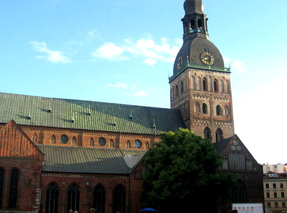 The Cathedral from 1211 is the archiepiscopal Cathedral of the Evangelical-Lutheran Church of Latvia, and has a magnificent organ and a 90 m high tower