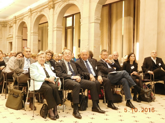 1st row from left: Age-researcher Prof. Dr. Ursula Lehr; Franz Franz Müntefering, President of BAGSO; Janusz Marszalek, Chairman of the Polish Seniors' Union (PUS)  and an ESU Vice-president