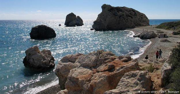 Cyprus: at the Pétra tou Romiou rocks, Aphrodite is said to have emerged from the foaming sea
