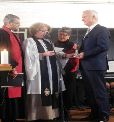 In December 2015, the Coventry cross of nails was handed over to the Cottbus Human Rights Center.