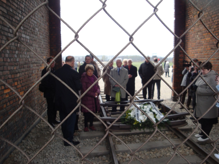 April 2014: An Hermans (3rd from left) and other participants of the Regional Conference visited the former Nazi extermination camp Auschwitz-Birkenau
